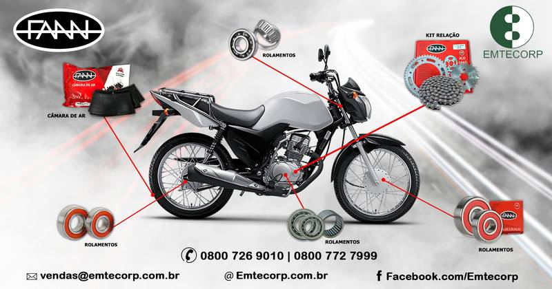Empresa de peças para motos atacado